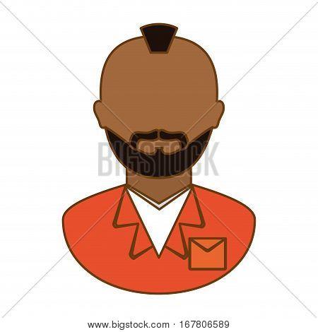 orange arrested man icon image, vector illustration
