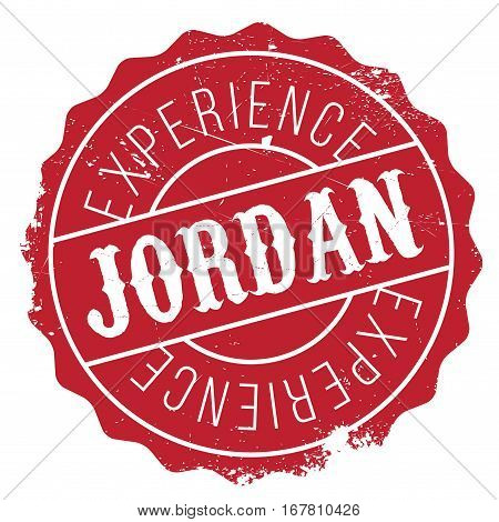Jordan stamp. Grunge design with dust scratches. Effects can be easily removed for a clean, crisp look. Color is easily changed.