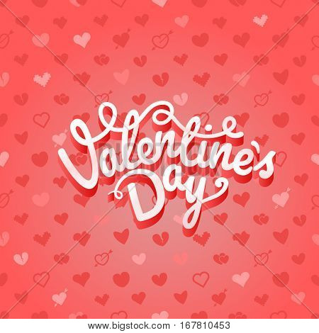 Happy valentines day wishes greeting card layout. Valentines vector label