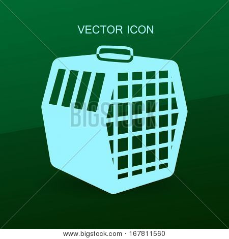 Animals transporting cage vector