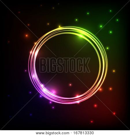 Abstract plasma background with colorful circles, stock vector