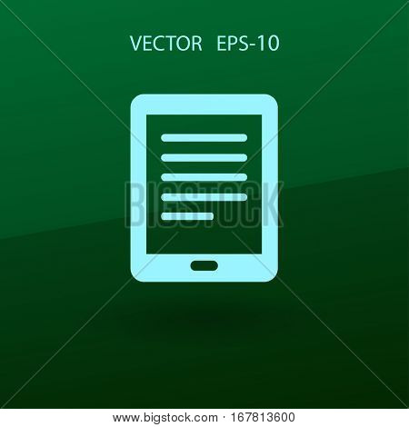 Flat icon of touchpad. vector illustration