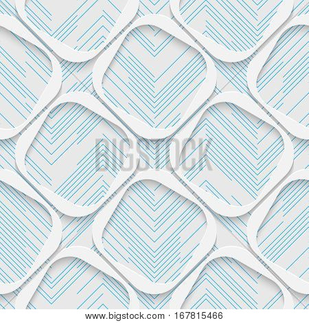 Seamless Wrapping Paper Pattern. Abstract Square Background. Modern Stylish Wallpaper. 3d Delicate Design