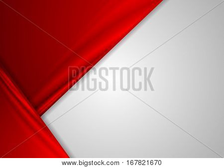 Abstract corporate contrast red and grey vector background