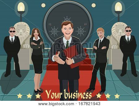 Invited to work in the business working as a team of business to the company and to the Bank where you can store your savings and increase profits