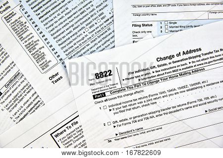 8822 change of address federal tax form
