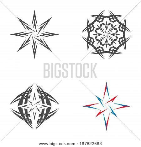 Logo star of Bethlehem on a white background