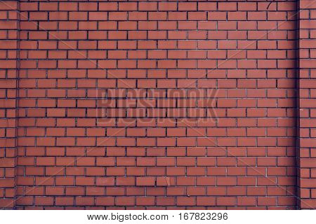 Brick Wall Orange Wallpaper Patter