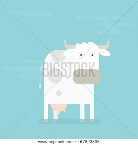 simple flat cow