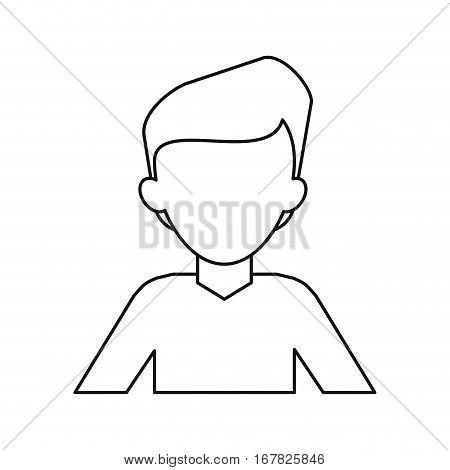 man young tshirt stylish thin line vector illustraton eps 10