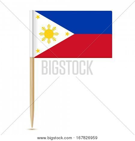 Flag of the Philippines. Flag toothpick isolated on white background 10eps