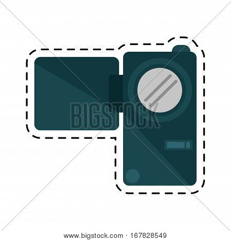 camcorder film video travel device cutting line vector illustration eps 10