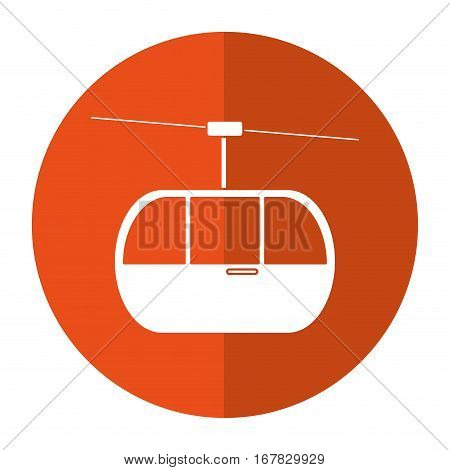 sky cable car transport mountain shadow vector illustration eps 10