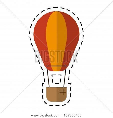 airballoon transport hot travel cutting line vector illustration eps 10
