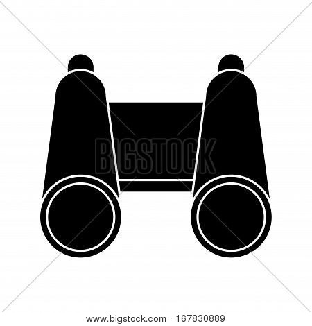 silhouette binoculars exploration observe look vector illustration eps 10