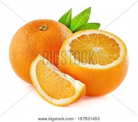 Orange fruit in closeup