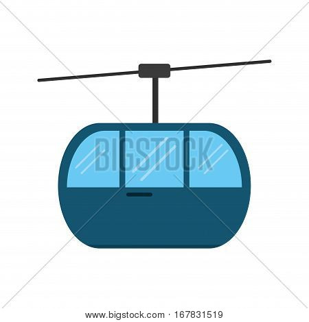 sky cable car transport mountain vector illustration eps 10