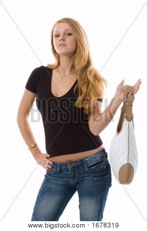 The Girl-Blonde With A Bag