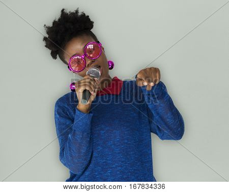 African Woman Vocal Singing Music Microphone