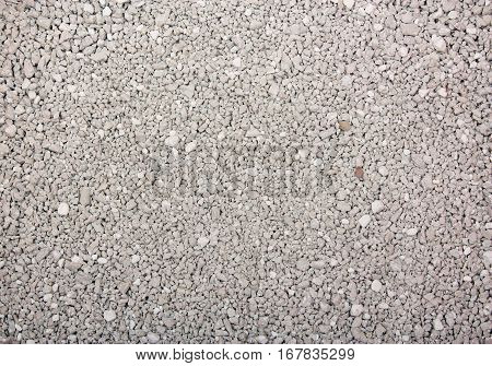 Cat litter background texture with clean and new brown gray