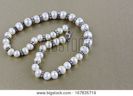 Women's jewelery and jewelery on a white background