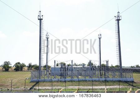 Electrical station in field