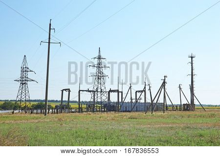 Electrical posts in field