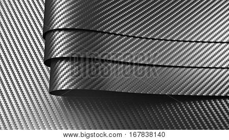 carbon fiber material 3d rendering image