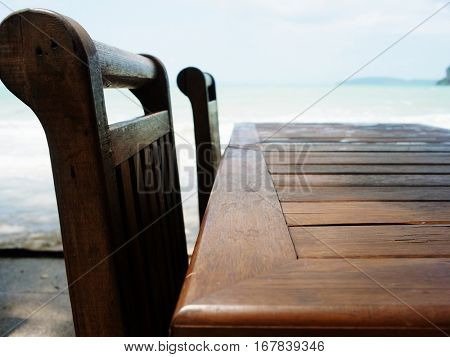 Table Chairs Sea side Concept