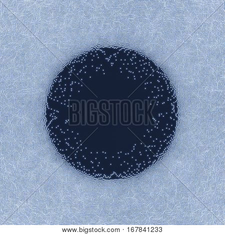Space vortex. Black hole made from Flying Particles. Abstract Background. 3D Vector Illustration.