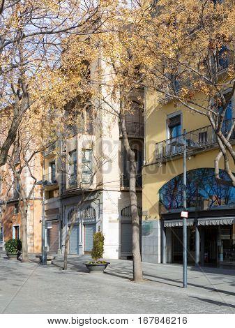 Placa de Catalunya, Girona, Spain.