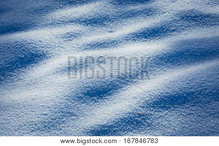 blue snow texture - abstract natural background