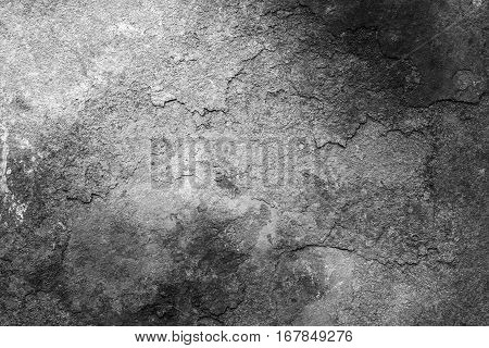 Rusty metal texture or rusty metal background. Grunge retro vintage of rusty metal plate for design with copy space for text or image. Dark edged. Black and white.