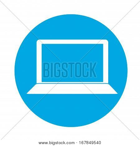 computer frontview two tone button  icon image vector illustration design