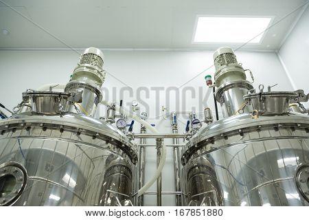 Big Steel Tanks In Laboratory