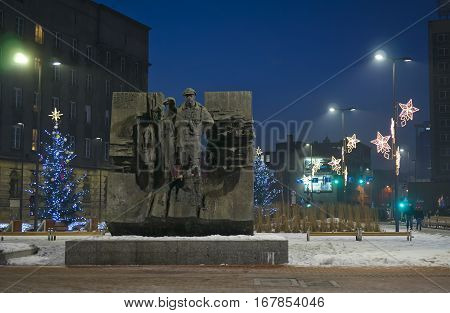 Katowice.., Poland.. - January 27, 2017: Monument Fighting Scout