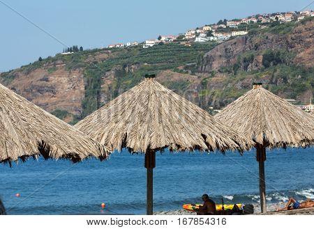 MADEIRA, PORTUGAL - SEPTEMBER 5, 2016: Vew of the coastline in Ribeira Brava on Madeira Island. Portugal