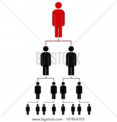 People icon vector illustration eps10. Organization chart infographic. Hierarchy pyramid concept.