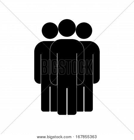 Group of people sign icon. Share symbol. UI website navigation. Social network icons. Group of friends. Cut Out people. Leader icon. Community icon. Multiple users silhouette