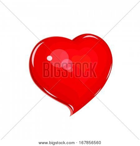 Heart. Symbol love for saint Valentines day. Holiday lovers. Vector illustration.