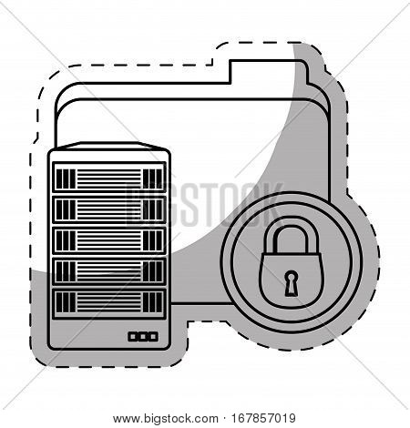 web hosting related icons image vector illustration design