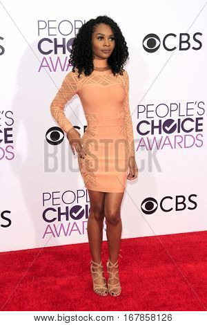 LOS ANGELES - JAN 18:  Zuri Hall at the People's Choice Awards 2017 at Microsoft Theater on January 18, 2017 in Los Angeles, CA