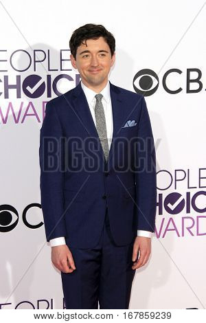 LOS ANGELES - JAN 18:  Matt Cook at the People's Choice Awards 2017 at Microsoft Theater on January 18, 2017 in Los Angeles, CA
