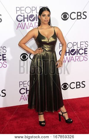 LOS ANGELES - JAN 18:  Lilly Singh at the People's Choice Awards 2017 at Microsoft Theater on January 18, 2017 in Los Angeles, CA