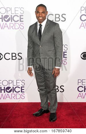 LOS ANGELES - JAN 18:  Jason George at the People's Choice Awards 2017 at Microsoft Theater on January 18, 2017 in Los Angeles, CA