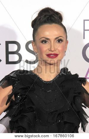 LOS ANGELES - JAN 18:  Karina Smirnoff at the People's Choice Awards 2017 at Microsoft Theater on January 18, 2017 in Los Angeles, CA