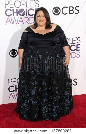 LOS ANGELES - JAN 18:  Chrissy Metz at the People's Choice Awards 2017 at Microsoft Theater on January 18, 2017 in Los Angeles, CA