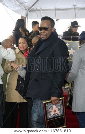 LOS ANGELES - JAN 23:  Bobby Brown at the New Edition Walk of Fame Star Ceremony at Hollywood Walk of Fame on January 23, 2017 in Los Angeles, CA