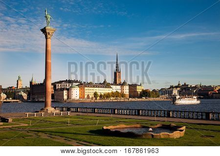 View of the old town (Gamla Stan) of Stockholm Sweden