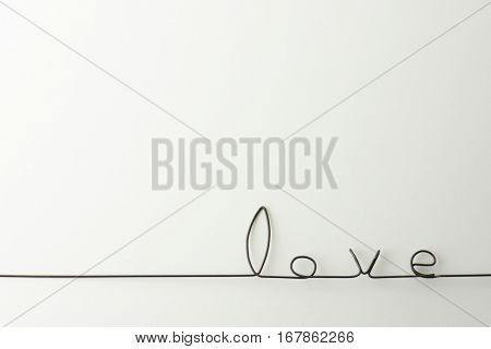 SImple love background. The word